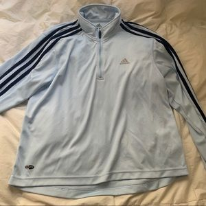Baby blue Adidas Quarter Zip